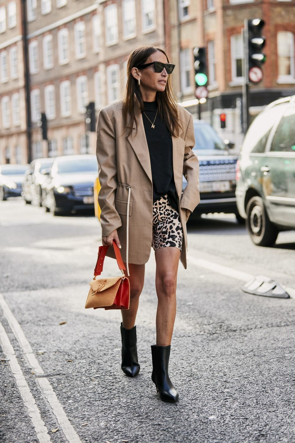 Beige with animal print winter style