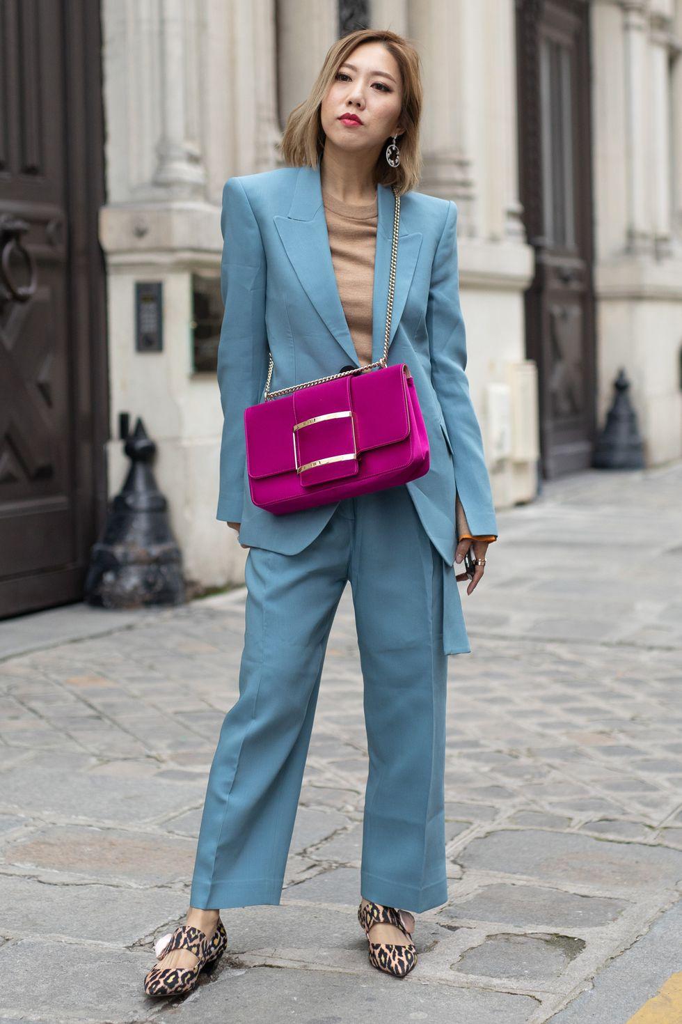 Winter beige fashion trend 2019 beige and cornflower blue